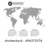 earth world map of spiral line. ... | Shutterstock . vector #696375376
