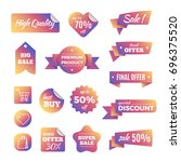 discount shopping banners and... | Shutterstock . vector #696375520