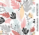 floral seamless pattern with... | Shutterstock .eps vector #696382138