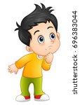 vector illustration of cute... | Shutterstock .eps vector #696383044