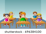 vector illustration of school... | Shutterstock .eps vector #696384100