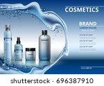 vector realistic cosmetics set... | Shutterstock .eps vector #696387910