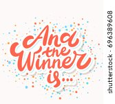 and the winner is... | Shutterstock .eps vector #696389608