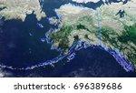map of alaska united states of...   Shutterstock . vector #696389686