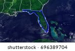 map of florida united states of ... | Shutterstock . vector #696389704