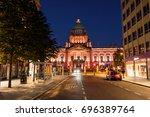 belfast  uk. nightlife with...   Shutterstock . vector #696389764