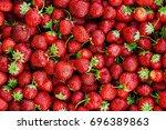 strawberries   lots of... | Shutterstock . vector #696389863
