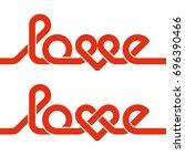 love knot typography. heart...   Shutterstock .eps vector #696390466