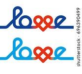love knot typography. heart...   Shutterstock .eps vector #696390499