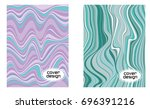 cover layouts collection with... | Shutterstock .eps vector #696391216