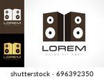 acoustic speakers logo   Shutterstock .eps vector #696392350