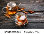 Cup And Teapot With Aromatic...