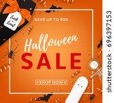 Halloween Sale Vector...