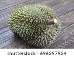 durian  no backgrond | Shutterstock . vector #696397924