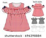 vector illustration of t shirt. ... | Shutterstock .eps vector #696398884