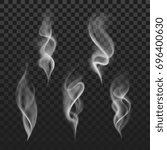 abstract transparent smoke hot... | Shutterstock . vector #696400630