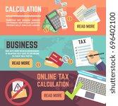 online tax accountanting ... | Shutterstock . vector #696402100