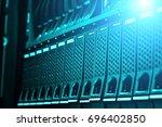 modern data center disk storage ... | Shutterstock . vector #696402850