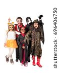 group of kids with face paint...   Shutterstock . vector #696406750