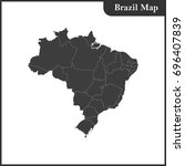 the detailed map of the brazil... | Shutterstock . vector #696407839