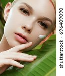 skincare  wellness  spa. clean... | Shutterstock . vector #696409090