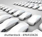 3d rendering  new vehicles are... | Shutterstock . vector #696410626
