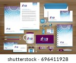 vector abstract stationery... | Shutterstock .eps vector #696411928