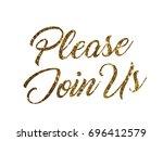 the golden glitter of isolated... | Shutterstock .eps vector #696412579