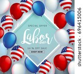 labor day sale promotion... | Shutterstock .eps vector #696415006