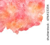 autumn  fall watercolor... | Shutterstock . vector #696415354