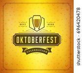oktoberfest beer festival... | Shutterstock .eps vector #696420478