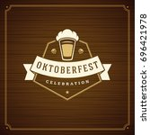 oktoberfest beer festival... | Shutterstock .eps vector #696421978