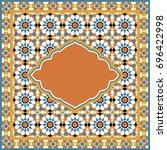 ornate mosaic background ... | Shutterstock . vector #696422998