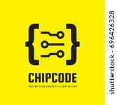 chip code   vector logo... | Shutterstock .eps vector #696426328