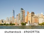 view on the financial district... | Shutterstock . vector #696439756