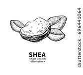 shea butter drawing. isolated... | Shutterstock . vector #696441064