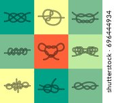 vector icons of sea knot... | Shutterstock .eps vector #696444934