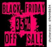 modern black friday 35  sale... | Shutterstock .eps vector #696448654