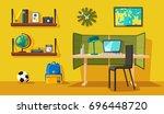 creative interior. room of... | Shutterstock .eps vector #696448720