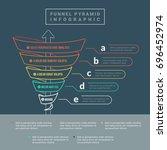 funnel spiral business pyramid... | Shutterstock .eps vector #696452974