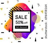 vector sale poster  banner... | Shutterstock .eps vector #696458164
