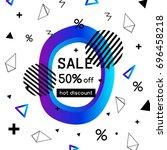 vector sale poster  banner... | Shutterstock .eps vector #696458218