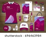 gift items  color promotional... | Shutterstock .eps vector #696463984