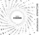streaming binary code 3d vector ... | Shutterstock .eps vector #696467248