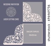 diy laser cutting vector... | Shutterstock .eps vector #696469756