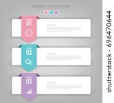 infographics template of three... | Shutterstock .eps vector #696470644