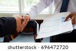 soft focus image  business man... | Shutterstock . vector #696472720