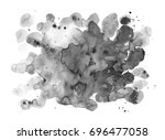 watercolor shapeless blot.... | Shutterstock . vector #696477058