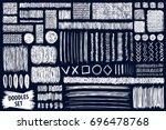 doodles set. scribble... | Shutterstock .eps vector #696478768