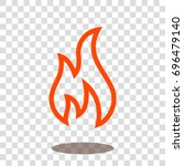 fire hot burn icon vector... | Shutterstock .eps vector #696479140